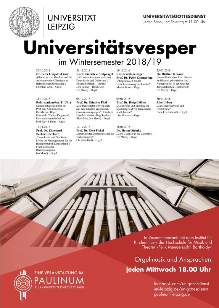 Plakat Vesper WS18-19